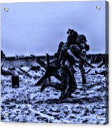 Midnight Battle Stay Close Acrylic Print by Thomas Woolworth