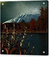 Midnight Blue In The Mountains Acrylic Print