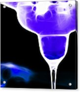 Midnight Blue Margarita Breeze Acrylic Print by Wingsdomain Art and Photography