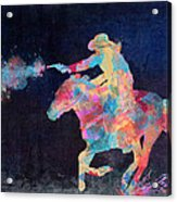 Midnight Cowgirls Ride Heaven Help The Fool Who Did Her Wrong Acrylic Print