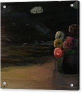 Midnight Flowers On The Beach Acrylic Print