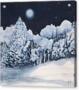 Midnight Frost Acrylic Print