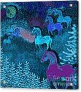 Midnight Horses Acrylic Print