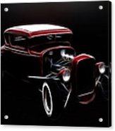 Midnight Hot Rod Red Acrylic Print