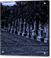 Midnight In The Garden Of Stones Acrylic Print by Thomas Woolworth