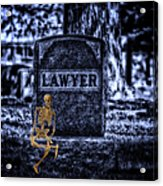 Midnight In The Graveyard With A Lawyer Acrylic Print