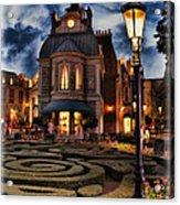 Midnight In The Labyrinth Garden II Acrylic Print