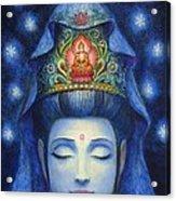 Midnight Meditation Kuan Yin Acrylic Print