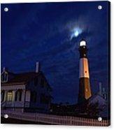 Midnight Moon Over Tybee Island Acrylic Print