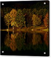 Midnight On The Lake Acrylic Print by Linda Unger