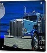 Midnight Peterbilt Acrylic Print