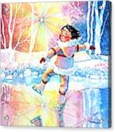 Midnight Sun Skating Fun Acrylic Print