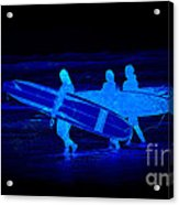 Midnight Surfers Acrylic Print