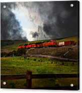 Midnight Train - 5d21043 Acrylic Print by Wingsdomain Art and Photography