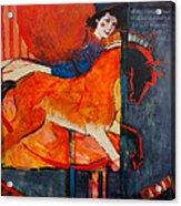 Midnight's Steed Acrylic Print by Jennifer Croom