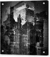 Midtown Black And White Acrylic Print