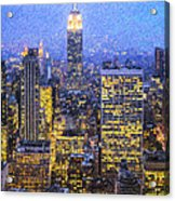 Midtown Manhattan And Empire State Building Acrylic Print