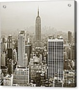 Midtown Manhattan With Empire State Building Acrylic Print