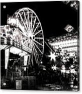 Midway Attractions In Black And White Acrylic Print
