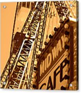 Midway Cafe Sepia Acrylic Print