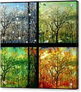 Midwest Seasons Collage Acrylic Print