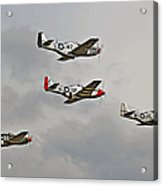 Mighty 8th P51 Mustangs  Acrylic Print by Pat Speirs