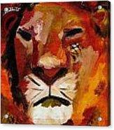 Mighty Lion Acrylic Print