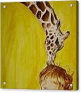 Mika And Giraffe Acrylic Print