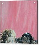 Mika And Monkey Acrylic Print