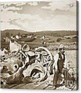 Mike Noon Monterey Whaler On Montereys Wharf  Circa 1890 Acrylic Print