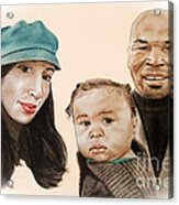 Mike Tyson And Family Altered Version From The One I Gave Him Acrylic Print by Jim Fitzpatrick