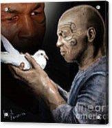 Mike Tyson And Pigeon II Acrylic Print