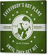Mike Tyson - Green Acrylic Print