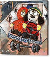 Miki And Kev Moore On Their Way To Portugal Acrylic Print