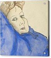 Mikki In Blue Acrylic Print