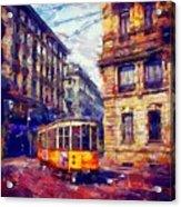 Milan Tram Acrylic Print