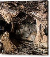 Milatos Cave Acrylic Print by Luis Alvarenga