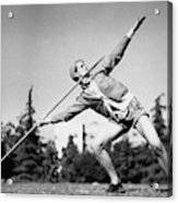 Mildred Babe Didrikson Holding A Javelin Acrylic Print