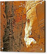 Mile-long Canyon Leads Through 600 Foot Deep Gorge To The Treasury In Petra-jordan Acrylic Print