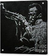 Miles Acrylic Print by Chris Mackie