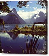 Milford Sound In New Zealand's Fiordland National Park Acrylic Print