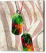 Military Art Dog Tags - Honor 2 - By Sharon Cummings Acrylic Print