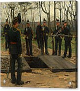 Military Funeral Acrylic Print