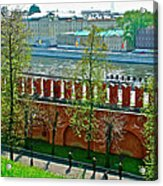 Military Parade Practice Inside Kremlin Walls In Moscow-russia Acrylic Print