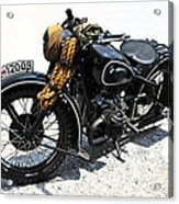 Military Style Bmw Motorcycle Acrylic Print