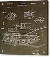 Military Tank Patent Acrylic Print
