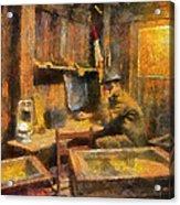 Military Ww I Command Post Photo Art 02 Acrylic Print
