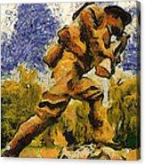 Military Ww I Doughboy 02 Photo Art Acrylic Print