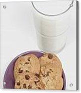 Milk And Cookies Acrylic Print