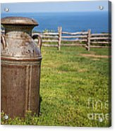 Milk Churn Acrylic Print